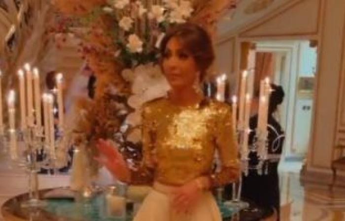 """#اليوم السابع - #فن - فرحة أم العريس.. الإعلامية بسمة وهبة فى حفل زفاف ابنها """"فيديو وصور"""""""