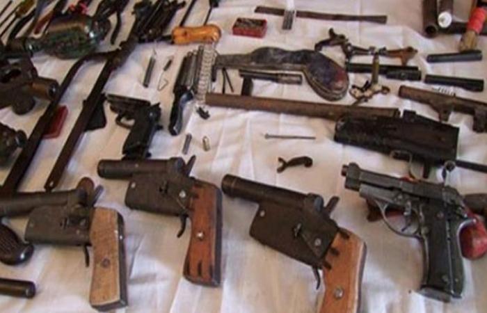 الوفد -الحوادث - ضبط 157 قطعة سلاح ناري خلال حملات مكبرة بالمحافظات موجز نيوز