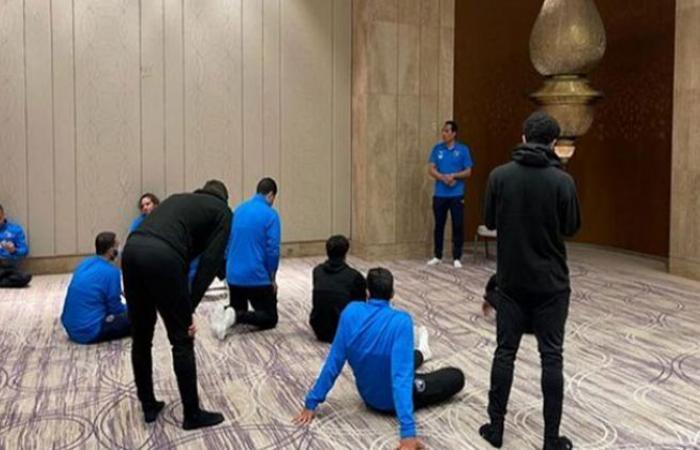 الوفد رياضة - بعثة بيراميدز تصلي الجمعة بفندق الإقامة في الدار البيضاء موجز نيوز