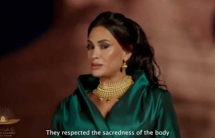 المصري اليوم - اخبار مصر- كيف ظهرت هند صبري في موكب المومياوات الملكية ؟ موجز نيوز