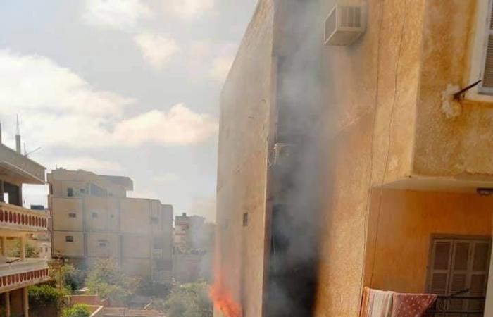 #اليوم السابع - #حوادث - السيطرة على حريق بعمارة سكنية بشمال سيناء.. صور
