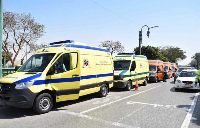 #المصري اليوم -#حوادث - إصابة أمين شرطة بحادث انقلاب سيارة على طريق الصعيد في المنيا موجز نيوز