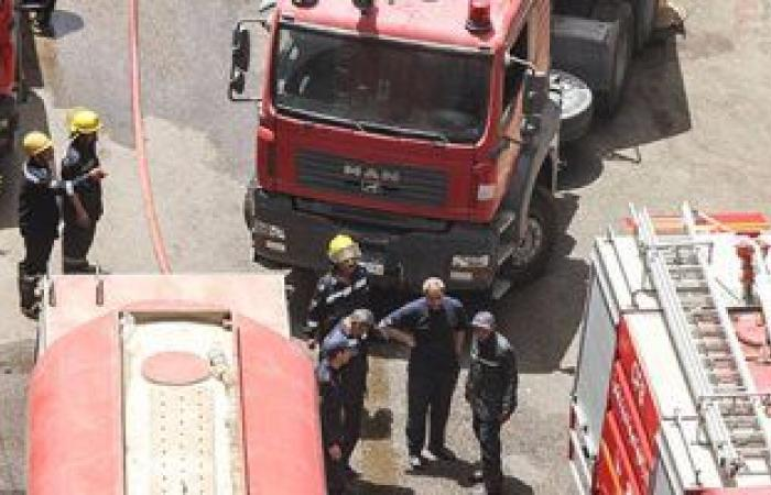 """#اليوم السابع - #حوادث - إنقاذ سائق بعد اشتعال شاحنة محملة بـ""""المازوت"""" على الطريق الصحراوى بأسوان"""