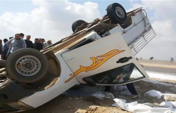 الوفد -الحوادث - إصابة 17 شخصاً في حادث سير بالقليوبية موجز نيوز