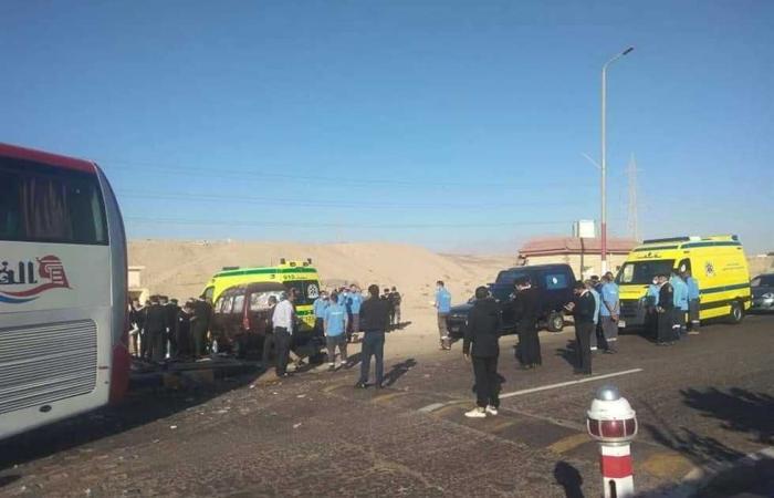 #المصري اليوم -#حوادث - إصابة 13 عاملا في حادث انقلاب أتوبيس على طريق «شبين الكوم- طملاي» موجز نيوز