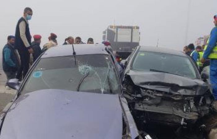 """#اليوم السابع - #حوادث - إصابة 7 أشخاص فى حادث تصادم سيارتين بطريق """"الإسماعيلية - السويس الصحراوى"""""""