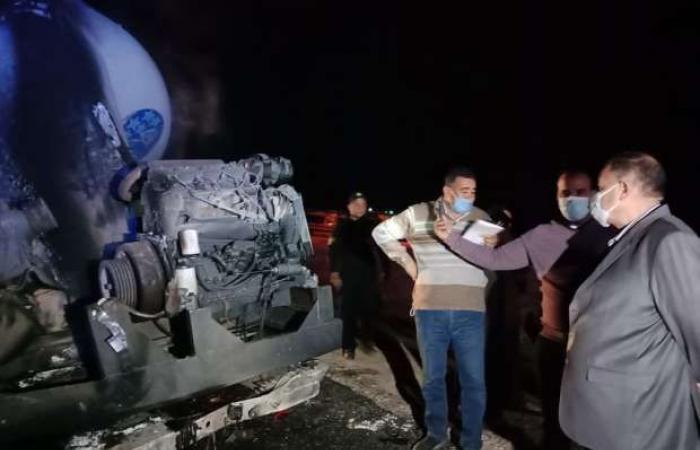 اخبار السياسه 25 سيارة إسعاف لنقل جثث ومصابي حادث تصادم «نقل بأتوبيس» بأسيوط