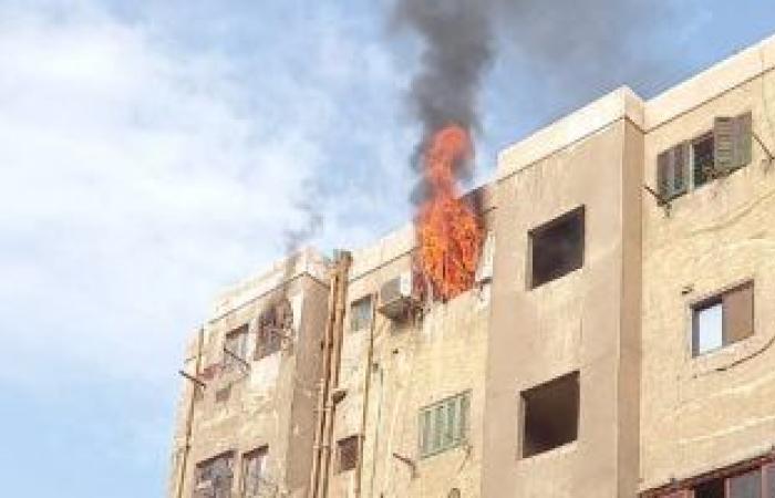 #اليوم السابع - #حوادث - السيطرة على حريق داخل شقة سكنية فى الشيخ زايد دون إصابات