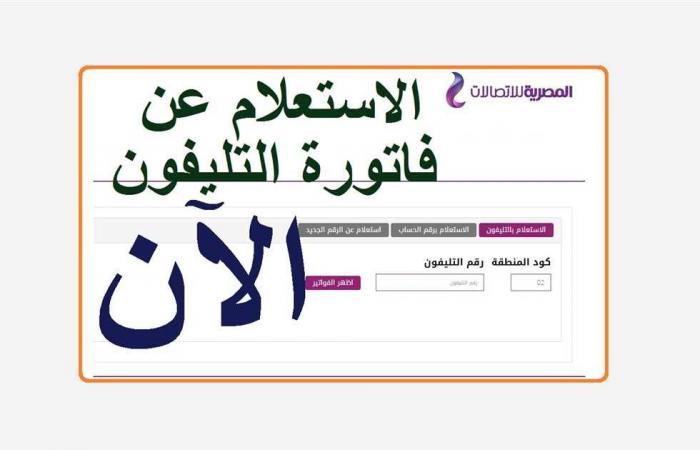 المصري اليوم - اخبار مصر- الآن بالرابط.. الاستعلام عن فاتورة التليفون الأرضي أبريل 2021 موجز نيوز