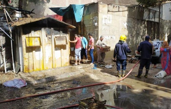 الوفد -الحوادث - السيطرة على حريق كشك بشارع سوق الثلاثاء في القناطر الخيرية موجز نيوز