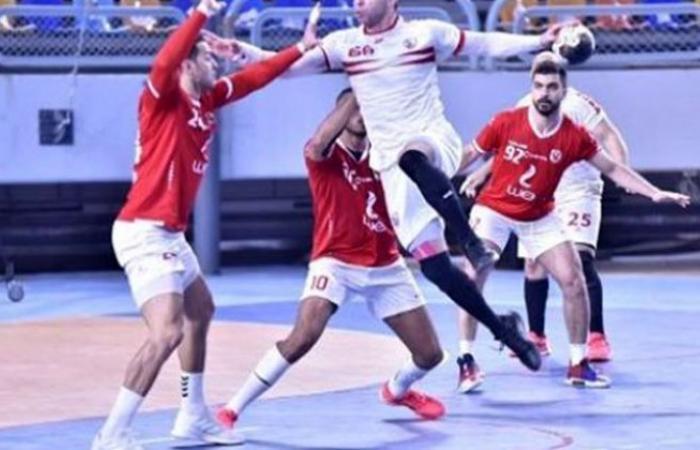 الوفد رياضة - أحمد الأحمر يقود الزمالك لمواجهة اللأهلي في لقاء حسم لقب دورى اليد موجز نيوز