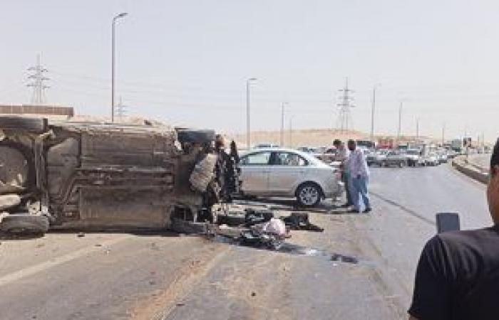 #اليوم السابع - #حوادث - إصابة 3 أشخاص فى حادث تصادم بطريق العلاقى بأسوان
