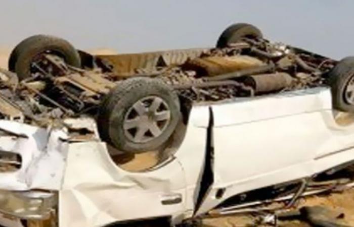 الوفد -الحوادث - إصابة 8 أشخاص ببنها في انقلاب سيارة موجز نيوز