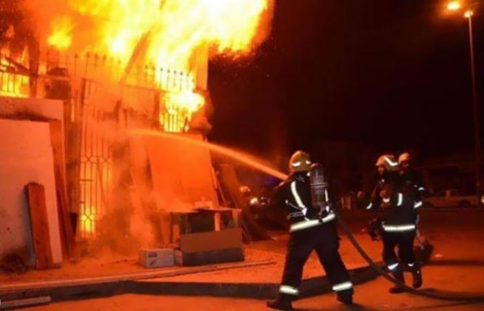 الوفد -الحوادث - الحماية المدنية تسيطر على حريق محل بعد إصابة شخصين موجز نيوز