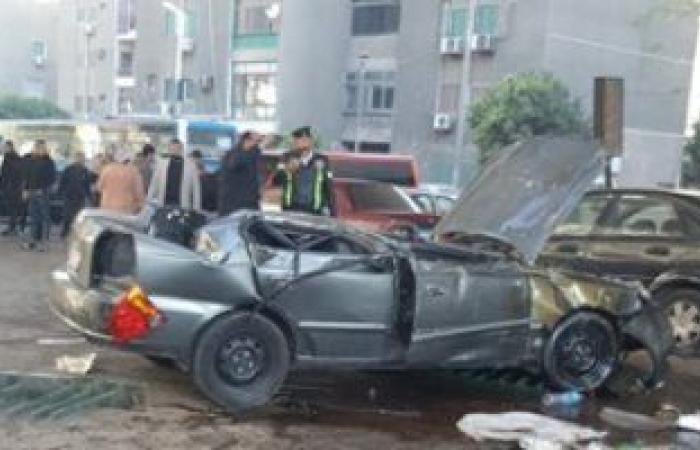 #اليوم السابع - #حوادث - إصابة 6 أشخاص في انقلاب سيارة ميكروباص بطريق شبرا بنها الحر
