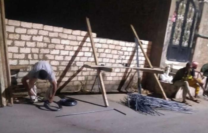 المصري اليوم - اخبار مصر- وقف أعمال بناء في المهد دون تقديم إخطار بناء فى البياضية جنوب الأقصر موجز نيوز