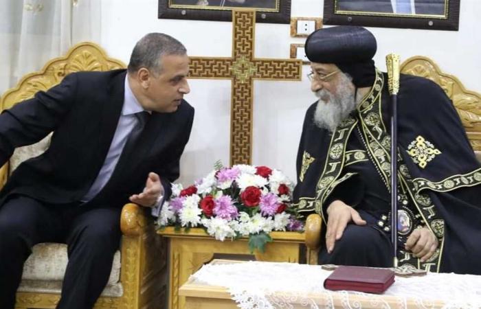 المصري اليوم - اخبار مصر- محافظ سوهاج يهنئ البابا تواضروس الثاني بعيد القيامة المجيد موجز نيوز