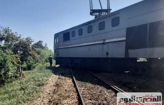 #المصري اليوم -#حوادث - خروج قطار المنصورة – دمياط عن القضبان (صور) موجز نيوز