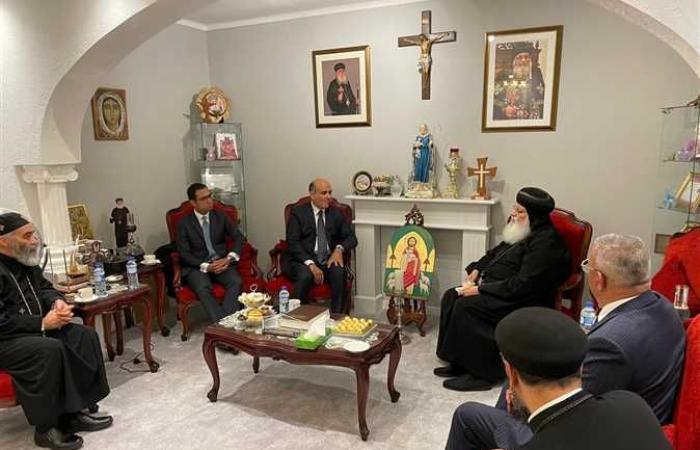 #المصري اليوم -#اخبار العالم - السفير المصري بهولندا يهنئ نيافة الأنبا ارساني بعيد القيامة (صور) موجز نيوز