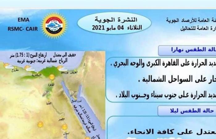 المصري اليوم - اخبار مصر- ذروة ارتفاع درجة الحرارة الساعة 3 عصر غد.. 4 نصائح عاجلة من الأرصاد للمواطنين موجز نيوز