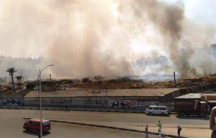 #اليوم السابع - #حوادث - اندلاع حريق فى أرض شركة النحاس بالإسكندرية.. صور