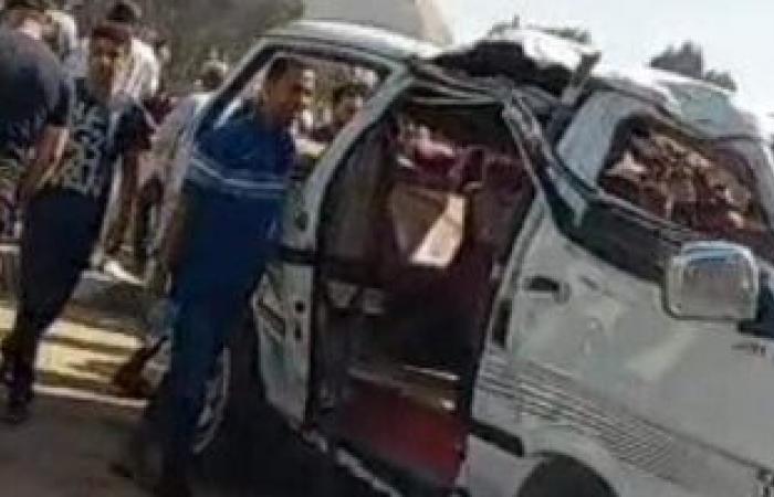 #اليوم السابع - #حوادث - إصابة 6 أشخاص فى حادث انقلاب سيارة ربع نقل بطريق العلاقى بأسوان