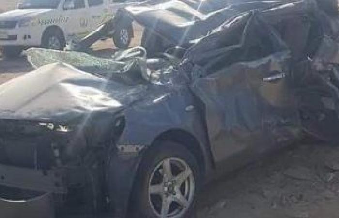 #اليوم السابع - #حوادث - مصرع شخص وإصابة آخر فى حادث انقلاب سيارة ملاكى بالغردقة