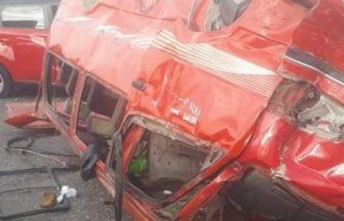 #اليوم السابع - #حوادث - مصرع شخص وإصابة 13 فى حادث انقلاب سيارة نقل على طريق محور 30 يونيو بالسويس