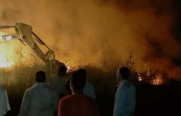 #المصري اليوم -#حوادث - الدفاع المدني يسيطر على حريق في شونة بالفيوم (صور) موجز نيوز