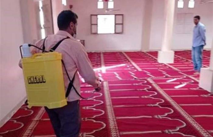 المصري اليوم - اخبار مصر- تطهير وتعقيم المساجد في شمال سيناء استعدادًا لصلاة الجمعة موجز نيوز