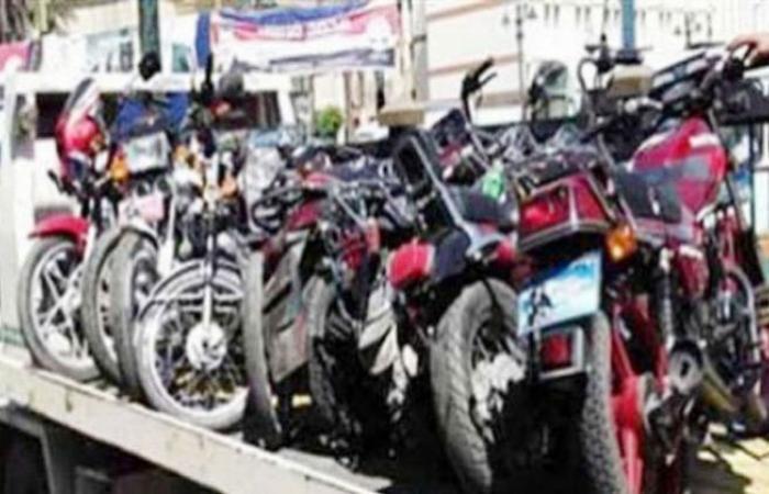 الوفد -الحوادث - المرور يضبط 338 دراجة نارية مخالفة موجز نيوز