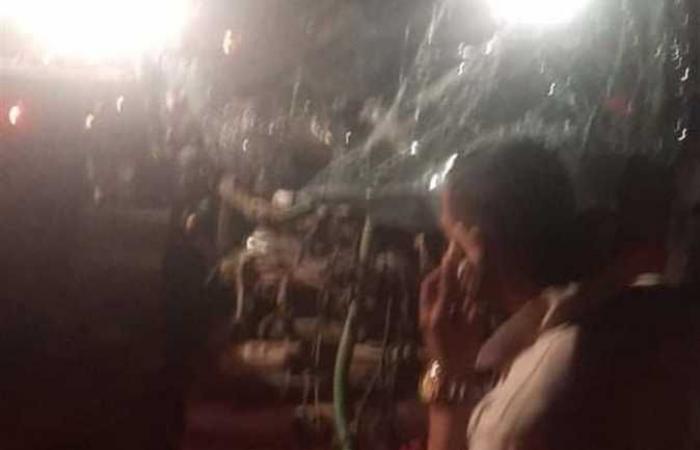#المصري اليوم -#حوادث - أول صور من موقع حادث أتوبيس الوادي الجديد .. ومصرع وإصابة 25 شخصًا موجز نيوز