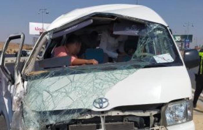 #اليوم السابع - #حوادث - إصابة 8 أشخاص فى حادث تصادم سيارة نقل وميكروباص بطريق بنها المنصورة
