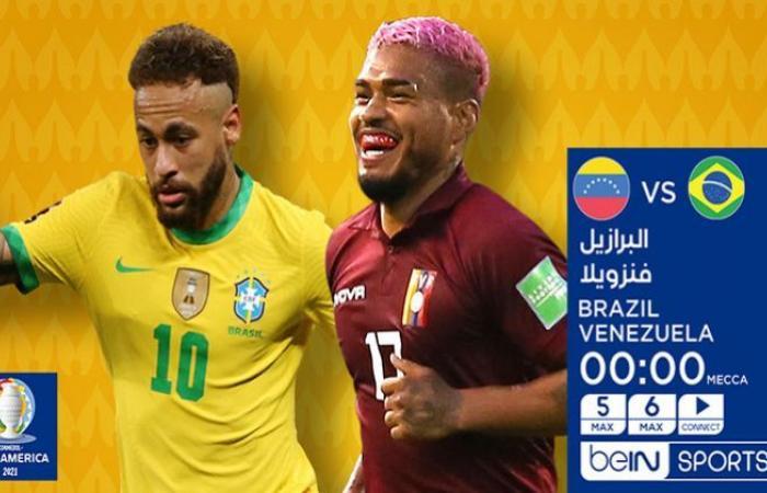 الوفد رياضة - مشاهدة مباراة البرازيل وفنزويلا بث مباشر في كوبا أمريكا 2021 جودات متعدد يلا شوت حصري موجز نيوز